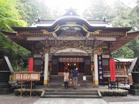 1900年前に創建されたという宝登山神社=埼玉県長瀞町で