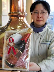 チョコレートモルトビールと生キャラメルを組み合わせたギフトセット=犬山市羽黒の犬山ローレライ麦酒で