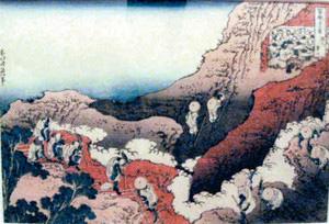 全作品中唯一富士山が描かれていない「諸人登山」