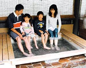 無料で楽しめる榊原温泉の足湯