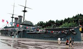 ほぼ実物大で再現された戦艦「三笠」