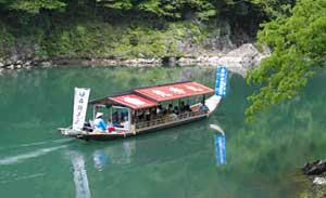 兼山瀞などを周遊する「木曽川舟遊び」(資料)