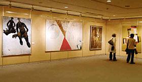 滑川の洋画界の流れが見てとれる作品展