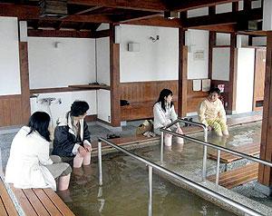 温泉足湯「小萬の湯」