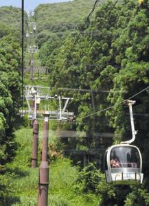 営業を再開した伊吹山の観光用ゴンドラ=米原市上野で