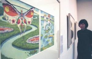 細かく丁寧に描写された武井氏の「おやゆび姫」=岡谷市のイルフ童画館で
