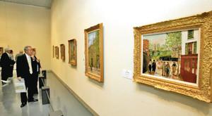 全作品が日本初公開のモーリス・ユトリロ展=豊橋市の市美術博物館で