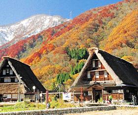 紅葉の五箇山・菅沼集落(資料)