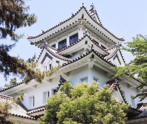 改修前の大垣城=大垣市で