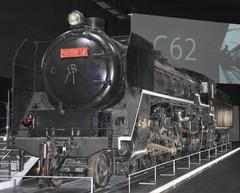 C62蒸気機関車=いずれも名古屋市港区金城ふ頭で