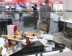 各メーカーが最新商品や名作を展示するホビースクエアの常設展示場=静岡市駿河区で
