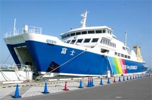 行政による割引制度が導入された「駿河湾フェリー」=静岡市の清水港で