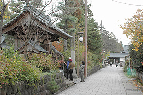 落ち着いた雰囲気の中を観光客が散策する寺町通り