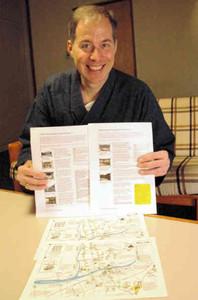 郡上八幡を英語で解説するセルフガイドマップを作ったブレント・ボーグンドバーグさん