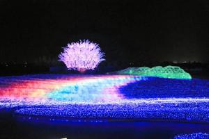 追加された「希望の虹」のシーン=桑名市長島町で