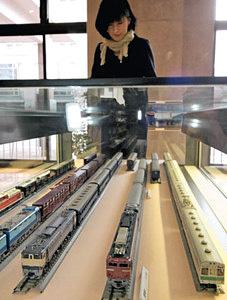 独自のこだわりが楽しめる高木さんの模型作品=金沢市西町で