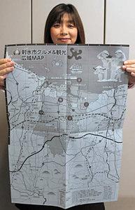 射水市外からのアクセスも分かるグルメ&観光エリアマップ=射水市観光協会で