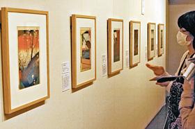 中山道広重美術館で開かれている「名所江戸百景」展