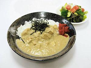 尼御前サービスエリア(下り)で味わうことができる堅豆腐カレー(中日本高速道路提供)