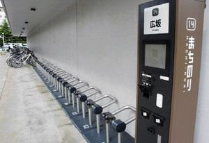 空き自転車が一時ゼロになった「広坂」=金沢市広坂で