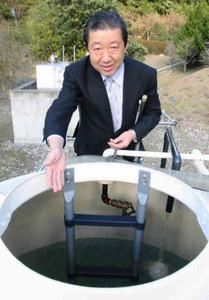 24日から提供を始める自前の温泉=紀北町紀伊長島区のホテル季の座で