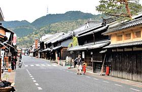 うだつの町並みが広がる国の重要伝統的建造物群保存地区