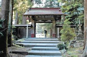 奥殿陣屋の近くにある龍渓院=いずれも愛知県岡崎市で