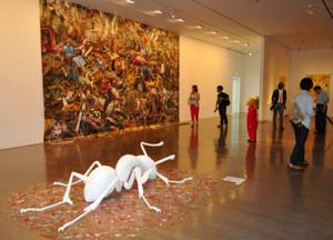 個性あふれる作品が並ぶ「こうさくてん」=金沢21世紀美術館で