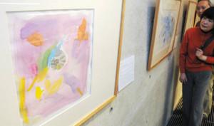 絵本「でんでんむしのかなしみ」の挿絵原画=半田市の新美南吉記念館で