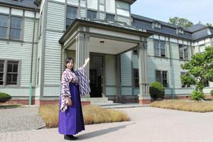 「花子とアン」で修和女学校として使われた北里研究所本館=犬山市の明治村で