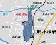 発掘調査をした大川遺跡=小松市提供