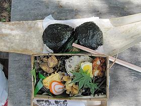地元の食材で作った「飛騨の森弁」=いずれも岐阜県飛騨市で