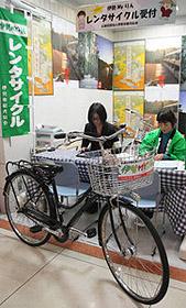 店舗内に設けられたレンタサイクルのコーナー=伊勢市楠部町のイオン伊勢店で