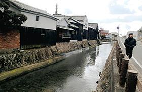 かつては、しょうゆの積み出し埠頭(ふとう)だった大仙堀。ここから各地へ運ばれた