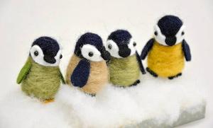 ちくちくペンギン教室で作れるひなの人形