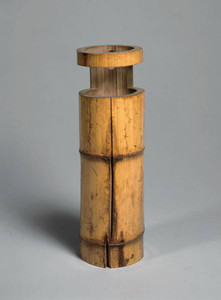 千利休作として有名な「竹一重切花生 銘園城寺」=東京国立博物館所蔵