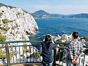 白崎海洋公園展望台からの眺めは、素晴らしいの一語