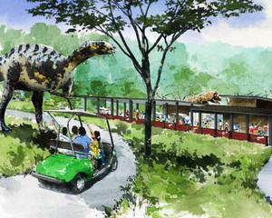 大高緑地に整備する「ディノアドベンチャーライド名古屋」のイメージ図