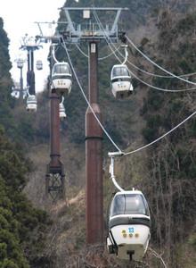 経営体制を一新して運行し始めたゴンドラリフト=白山市の獅子吼高原で