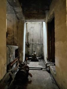 芸術的な空間となったボイラー室の一角=一宮市栄で(栗本さん提供)