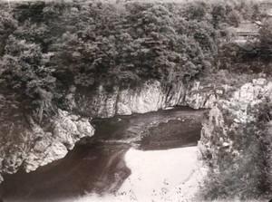 永源寺ダムが完成し、現在は見ることができない愛知川上流の風景写真