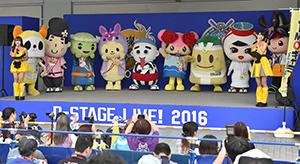 JIMOキャラ総選挙で上位にランクインしたキャラクター=名古屋市東区のナゴヤドームで