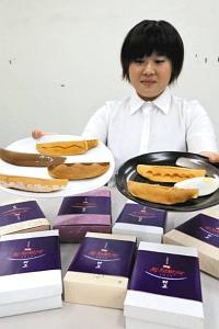 桑名市内7つの和菓子店がアイデアを競う「妖菓村正」=桑名市の昭和印刷で