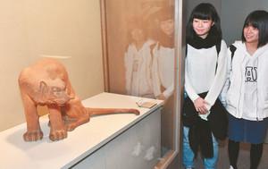 石黒宗麿が33歳のころ制作した陶彫「虎」=富山県射水市新湊博物館で