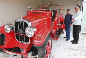 修復されたチャンドラ号=砺波消防署で