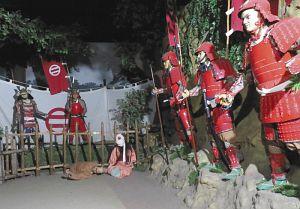 「長島の一向一揆」をテーマにしたお化け屋敷=伊勢市二見町三津の安土桃山文化村で