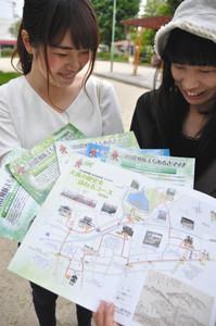 探検隊がこれまでに作った「まちあるきマップ」
