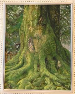 市展大賞に輝いた高木昭桂さんの日本画「樹」