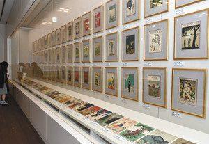 竹久夢二が描いた楽譜の表紙画=富山市の高志の国文学館で