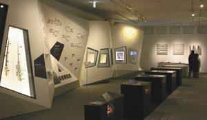「切る」について学ぶことができるフェザーミュージアム=いずれも岐阜県関市で